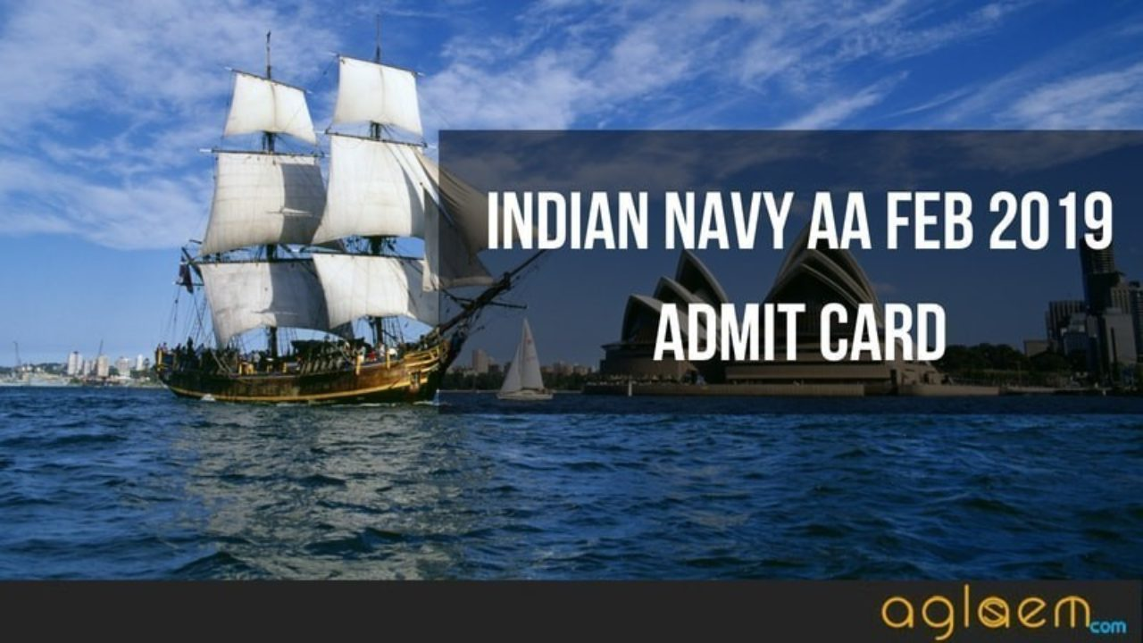 Indian Navy AA Feb 2019 Admit Card (Released) - Download Artificer