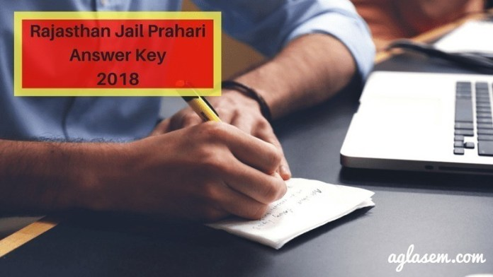 Rajasthan Jail Prahari Answer Key 2018