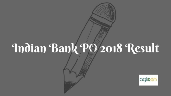 Indian Bank PO 2018 Result