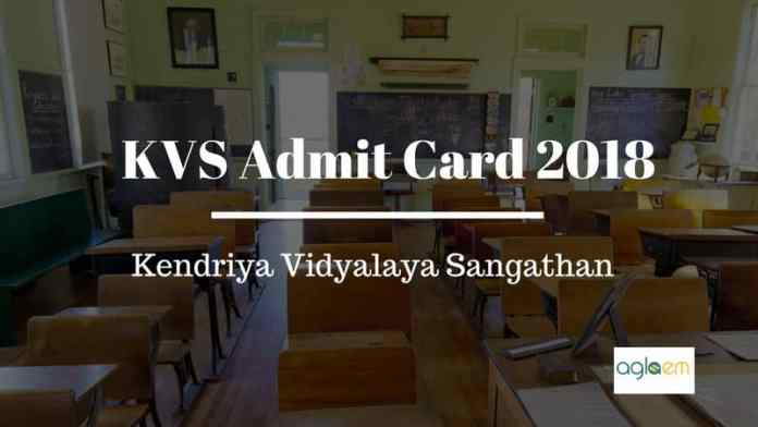 KVS Admit Card 2018