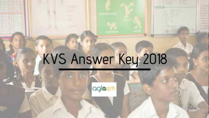 KVS Answer Key 2018