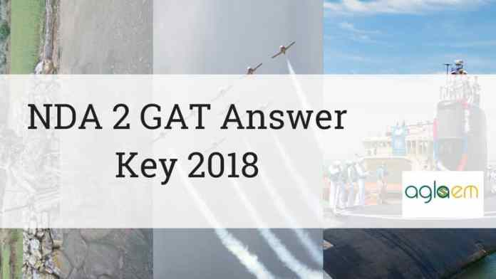 NDA 2 GAT Answer Key 2018