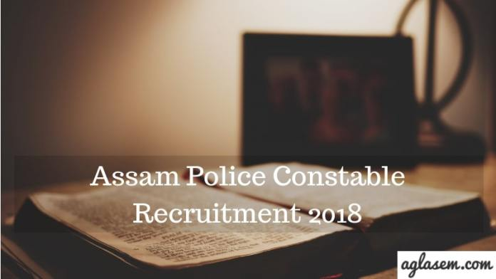 Assam Police Constable 2018