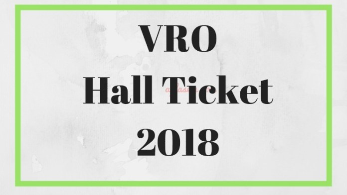 VRO Hall Ticket 2018