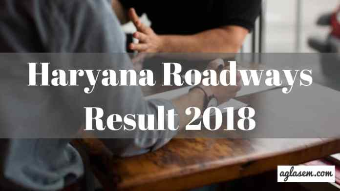 Haryana Roadways Result 2018 Aglasem