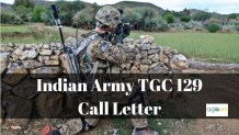 Indian Army TGC 129 Call Letter