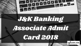 J&K Banking Associate Admit Card 2018 Aglasem