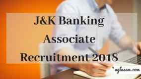 J&K Banking Associate Recruitment 2018 Aglasem