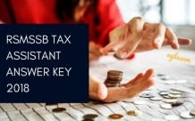 RSMSSB Tax Assistant Answer Key 2018