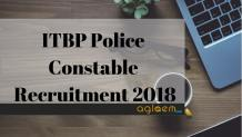 ITBP Police Constable Recruitment 2018 Aglasem