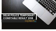 Delhi Police Temporary Constable Result 2018 Aglasem