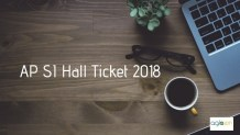 AP SI Hall Ticket 2018