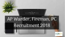 AP Warder, Fireman, PC Recruitment 2018