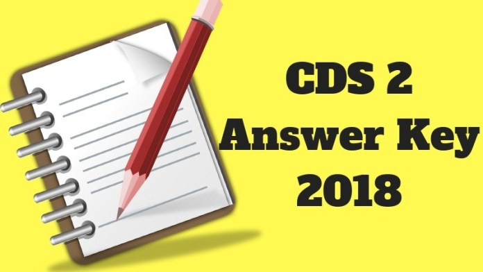 CDS 2 Answer Key 2018