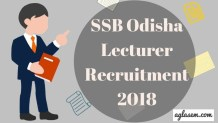 SSB Odisha Lecturer Recruitment 2018 Aglasem