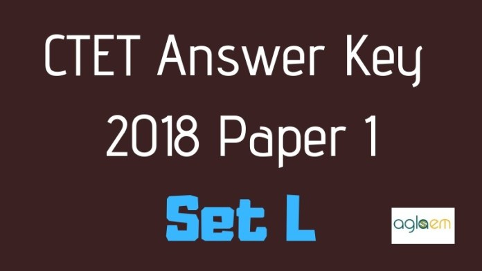 CTET Answer Key for Set L