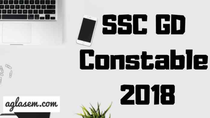 SSC GD Constable 2018 Aglasem