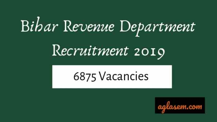 Bihar Revenue Department Recruitment 2019