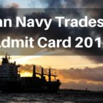 Indian Navy Tradesman Admit Card 2019 Aglasem