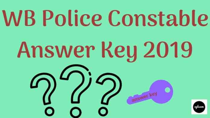 WB Police Constable Answer Key 2019 Aglasem